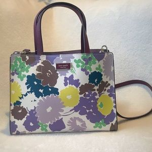KATE SPADE SAM SWING FLORA MEDIUM SATCHEL. NWT!